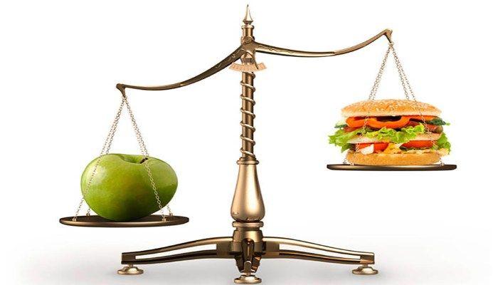 Яблоко против гамбургера